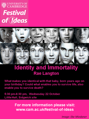 Festival of Ideas - Identity and Immortality's image
