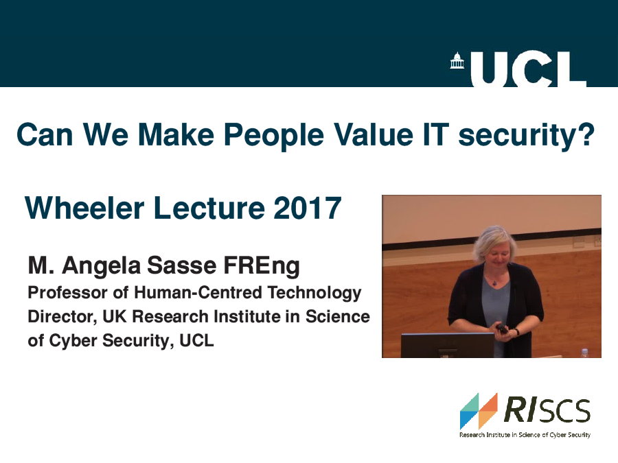 A discussion around some of the human factors and usability issues in the security of computer systems.